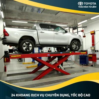 Xưởng Dịch vụ Toyota Thái Hoà Từ Liêm mở cửa từ 7:00 - 19:00 hàng ngày