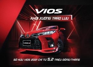 Tặng gói phụ kiện 3 triệu khi mua Toyota Vios 2021 trong Tuần vàng ra mắt xe (01/03 đến 07/03/2021)