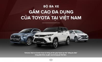 Trưng bày và lái thử Bộ ba gầm cao Toyota