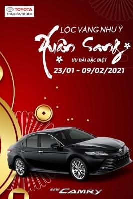 Ưu đãi đặc biệt 03 dòng xe Toyota Camry, Vios, Yaris (23/01 - 09/02/2021)