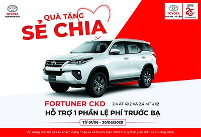 Quà tặng sẻ chia tháng 5,6 dành cho khách hàng mua xe Fortuner