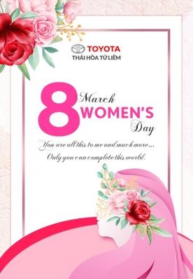 Toyota Thái Hoà Từ Liêm - Chúc mừng ngày Quốc tế phụ nữ 08/03