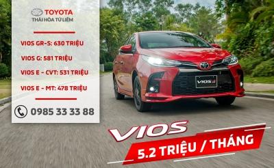 Khuyến mại đặc biệt mua xe Toyota Vios 2021 trong tháng 04
